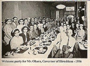 Governor Ohara from Hiroshima Prefecture